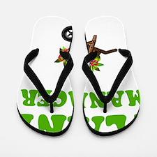 Plant Manager Green Flip Flops