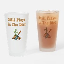 Plays In Dirt Brown Drinking Glass