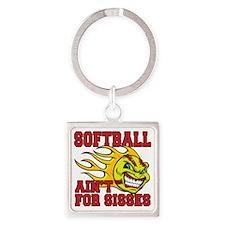 softball sisses Square Keychain