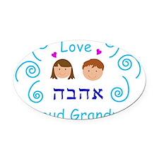 proud-grandmother-girl-boy Oval Car Magnet