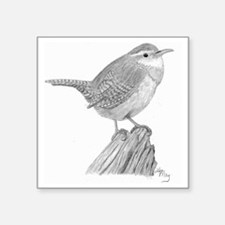 "wren_05 Square Sticker 3"" x 3"""