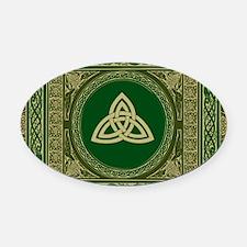 Celtic Blanket Oval Car Magnet