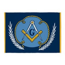 Masonic Blanket 5'x7'Area Rug