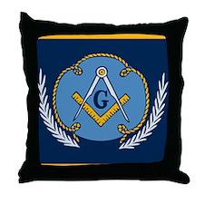 Masonic Blanket Throw Pillow