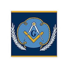 "Masonic Blanket Square Sticker 3"" x 3"""
