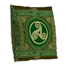 Celtic Blanket Burlap Throw Pillow