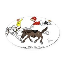 Scotlands Election - The two horse Oval Car Magnet