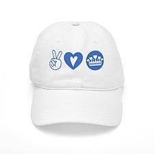 Peace Love Royal - Pruple 1A Baseball Cap