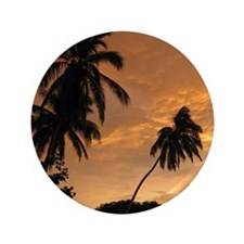 """Palm Trees at Sunset 3.5"""" Button"""