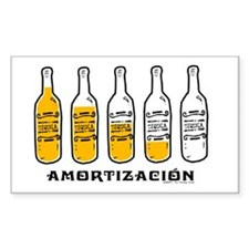 Tequila Amortización - Rectangle Stickers