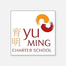 "yuming-logo-final Square Sticker 3"" x 3"""
