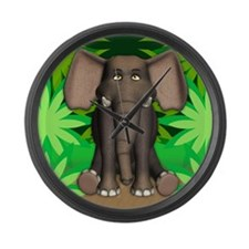Unique Cartoon jungle Large Wall Clock