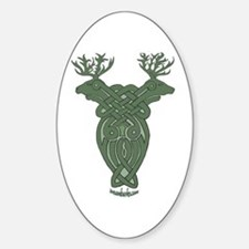 Celtic Stag Oval Decal