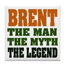 BRENT- the legend Tile Coaster