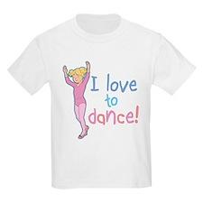 Love Dance Ballet Girl 4 Kids T-Shirt