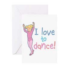 Love Dance Ballet Girl 4 Greeting Cards (Package o