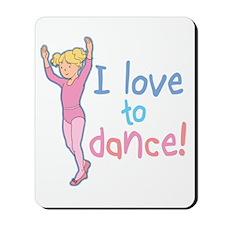 Love Dance Ballet Girl 4 Mousepad