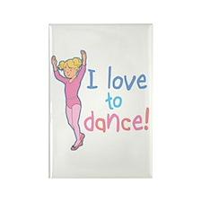 Love Dance Ballet Girl 4 Rectangle Magnet