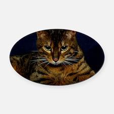 Bengal Cat 9W080D-128 Oval Car Magnet