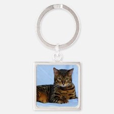 Bengal Cat 9W052D-023 Square Keychain