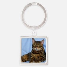 Bengal Cat 9W052D-018 Square Keychain