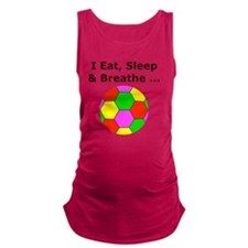 Eat Sleep Breathe Soccer Themed Maternity Tank Top