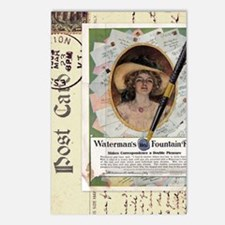 1909 Watermans Ideal Foun Postcards (Package of 8)