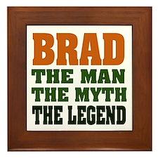 BRAD - the legend Framed Tile
