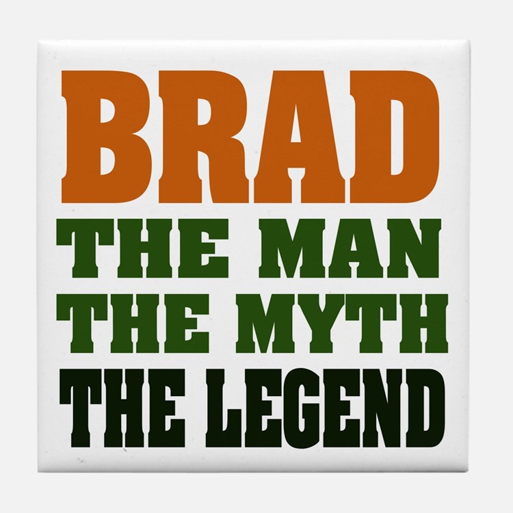 BRAD - the legend Tile Coaster