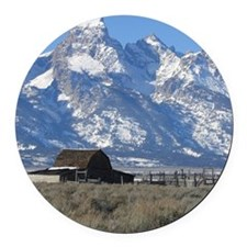 Copy of Tetons 021a Round Car Magnet