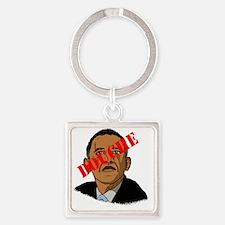 Obama Douche Square Keychain