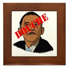 Obama Douche Framed Tile