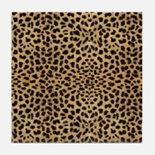 blanketleopardprint Tile Coaster