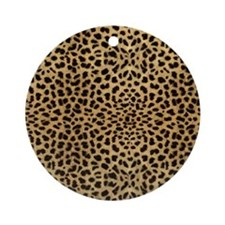 blanketleopardprint Round Ornament