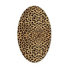 blanketleopardprint Oval Car Magnet