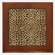 blanketleopardprint Framed Tile