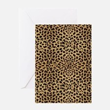 blanketleopardprint Greeting Card