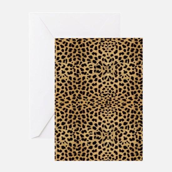 blanketleopardprint Greeting Card