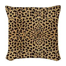 blanketleopardprint Woven Throw Pillow