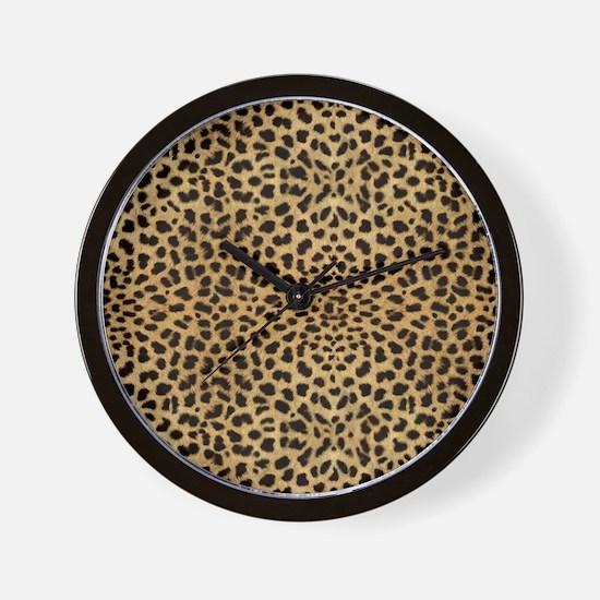 blanketleopardprint Wall Clock