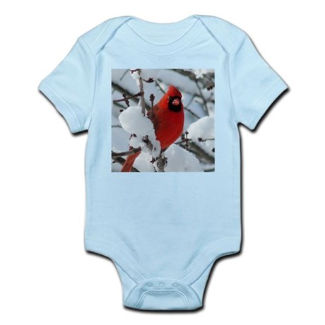 Snow Cardinal Infant Bodysuit