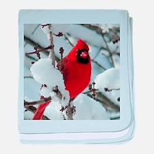 Snow Cardinal baby blanket