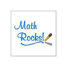 "Math Rocks Square Sticker 3"" x 3"""
