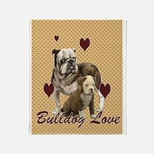 Bulldog Mother Love Throw Blanket