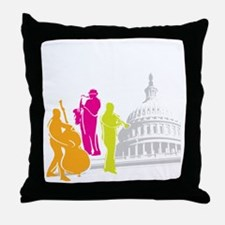 DCJF_2011_10X10_Dark_APPAREL Throw Pillow