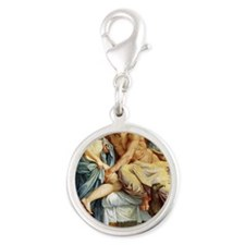 A Carracci, Farnese Ceiling, J Silver Round Charm
