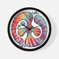 60s-blob-peace-LTT Wall Clock