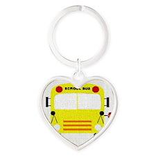 bus-A Heart Keychain