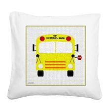 bus-A Square Canvas Pillow