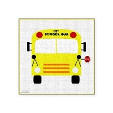 "bus-A Square Sticker 3"" x 3"""